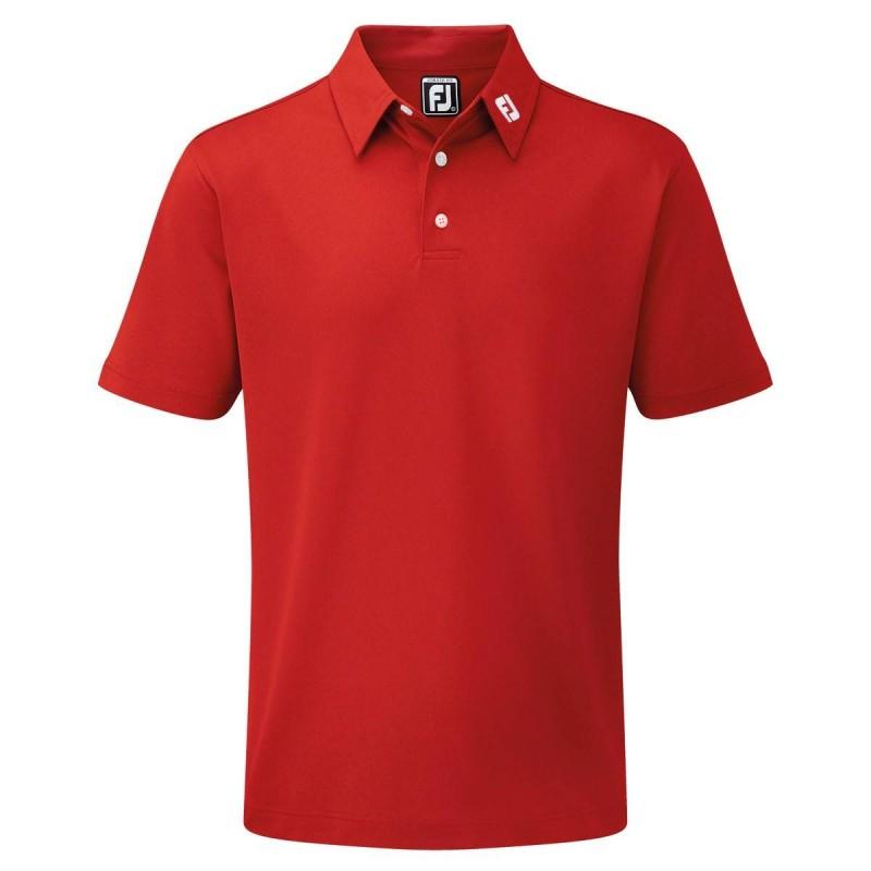 FootJoy Stretch Pique heren golfpolo shirt (rood) 91825 Footjoy Golfkleding