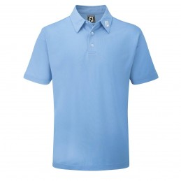 FootJoy Stretch Pique heren golfpolo shirt (blauw) 91826 Footjoy Golfkleding