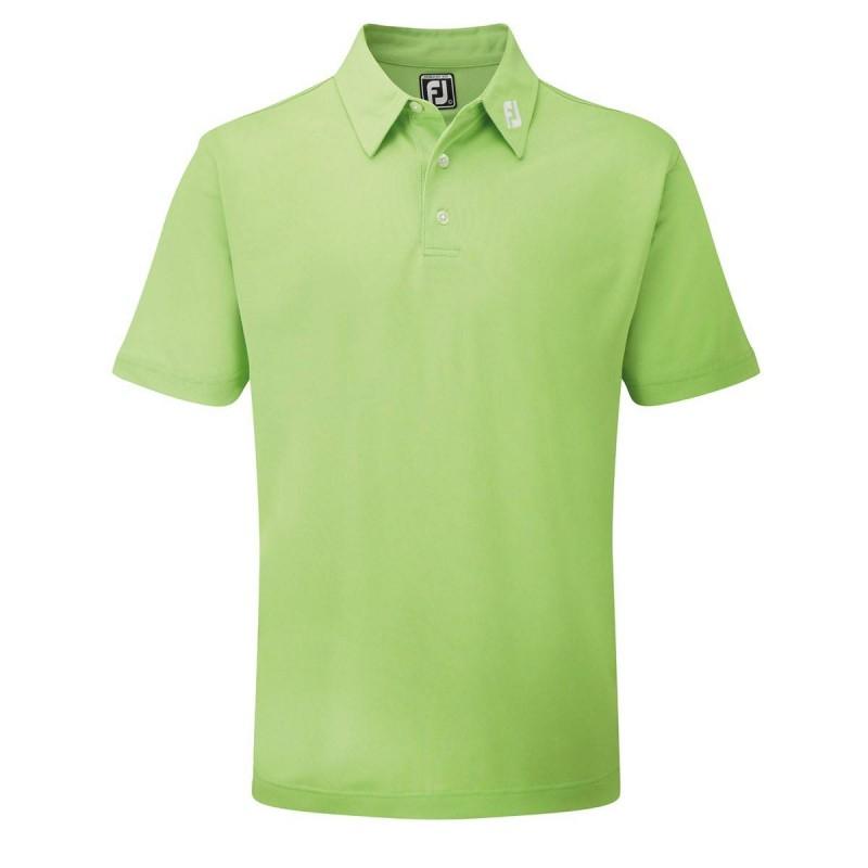 FootJoy Stretch Pique heren golfpolo shirt (lime) 91818 Footjoy Golfkleding