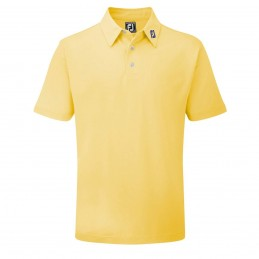 FootJoy Stretch Pique heren golfpolo shirt (geel) 91839 Footjoy Golfkleding