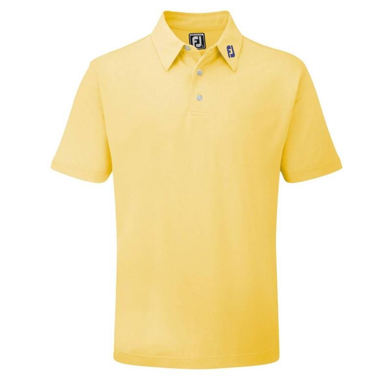 FootJoy Stretch Pique heren golfpolo shirt (geel) 91839 Footjoy Golfkleding