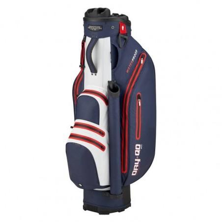 Bennington Dry Quiet Organizer waterdichte golf cartbag (marineblauw-wit-rood) QODB-NWR Bennington Golf Golftassen