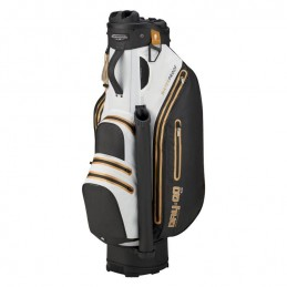 Bennington Dry Quiet Organizer waterdichte golf cartbag (zwart-wit-goud) QODB-BWG Bennington Golf Golftassen