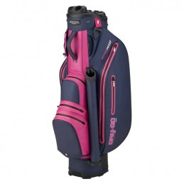 Bennington Dry Quiet Organizer waterdichte golf cartbag (marineblauw-roze-paars) QODB-NPP Bennington Golf Golftassen