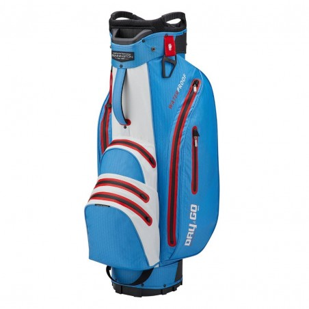 Bennington Dry Go waterdichte golf cartbag (kobalt-wit-rood) BDG-CWR Bennington Golf Golftassen