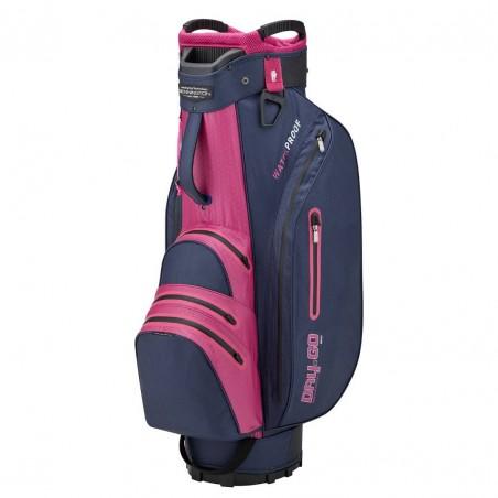Bennington Dry Go waterdichte golf cartbag (marineblauw-paars-roos) BDG-NPP Bennington Golf Golftassen