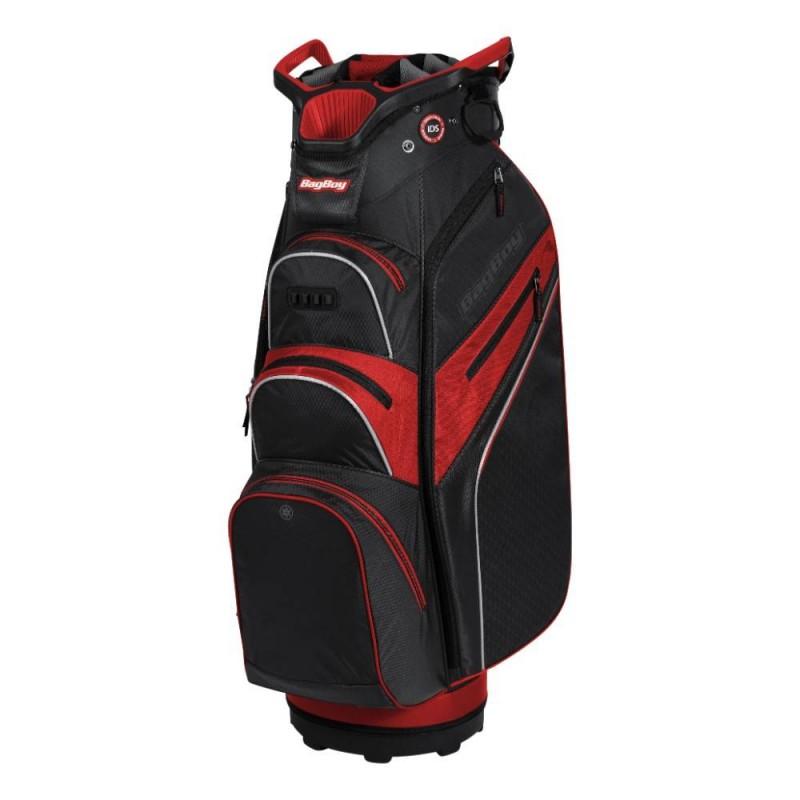 BagBoy Lite-Rider Pro golf cartbag met Top-lock (zwart-rood) BB-LRP-BR BagBoy Golf Golftassen