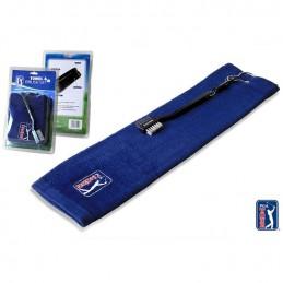 PGA Tour golf handdoek en golfclubborstel set marineblauw